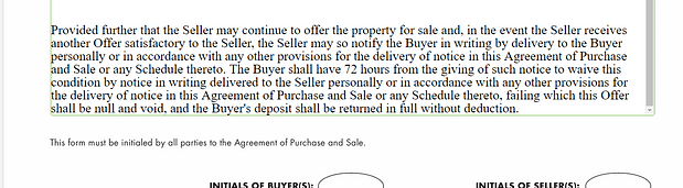 Example of an escape clause